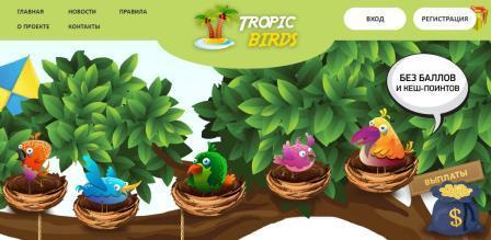 инвестиционные проекты, заработок на кликах, tropic-birds.biz отзывы, tropic-birds.biz обзор, tropic-birds.biz экономическая онлайн игра с выводом денег